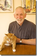 Professor Tom Scheff and cat Misha