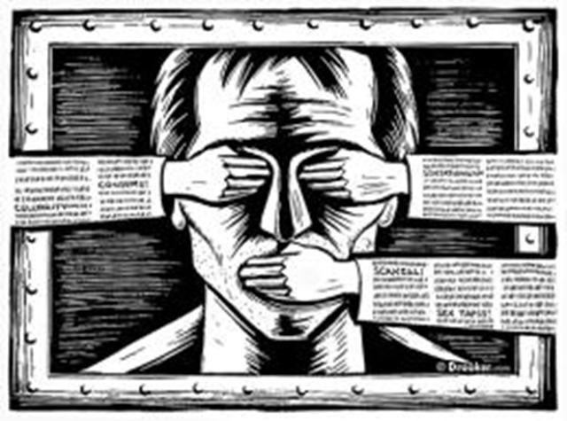 Risultati immagini per no freedom of speech